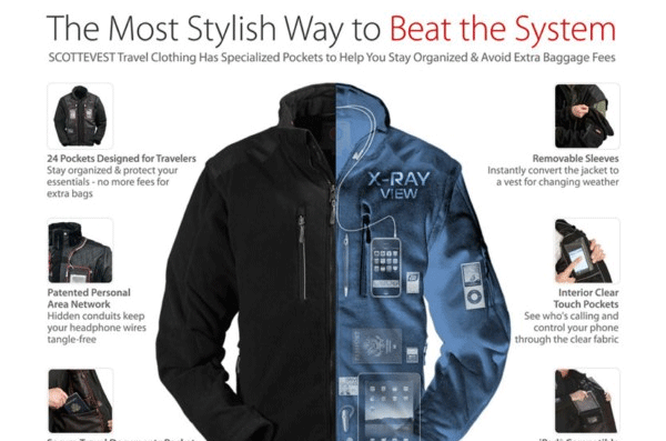 ScotteVest The Most Stylish Way to Beat the System Ad