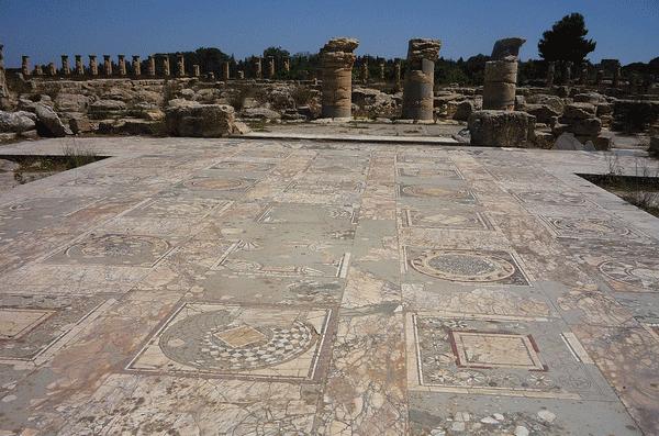 Elaborate Mosaic Floors at seaside Cyrene, 600 BC