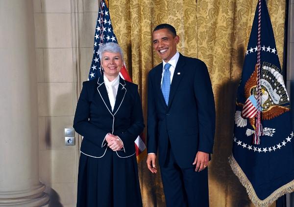 Jadranka Kosor and Barack Obama