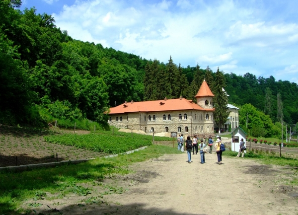 Moldovan monastery near the river.