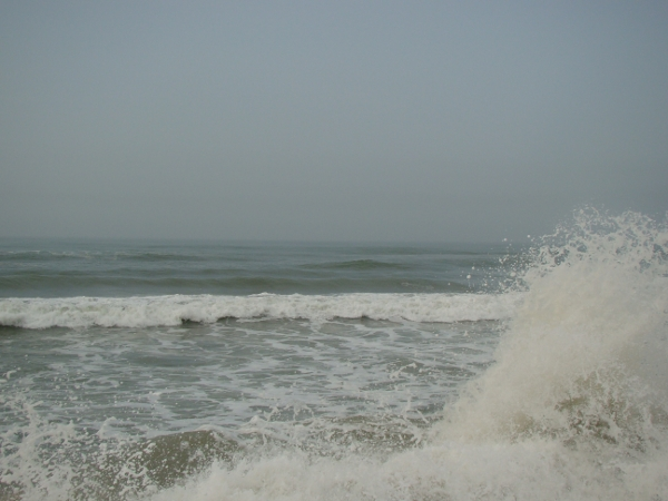 Puri Beach at high tide