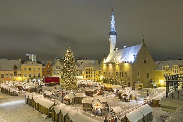 Tallinn Market Square at Christmas
