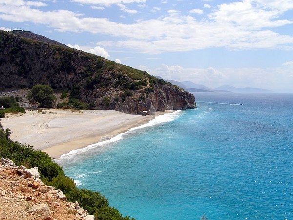 Gjipa Beach in Albania