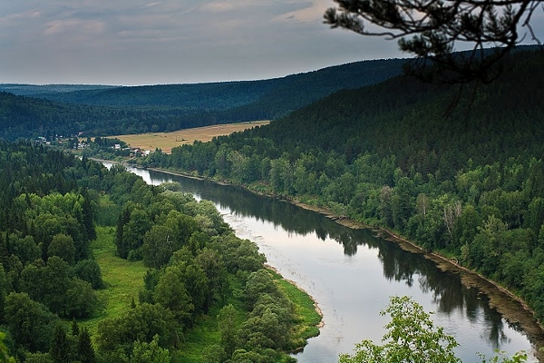 The Ufa River of Russia - places you never saw - courtesy Sergei Ezhov
