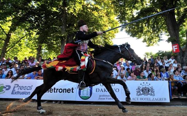 Mario Šušnjar during the competition at the 295th Alka of Sinj. Foto: Antonio Bronić/Pixsell