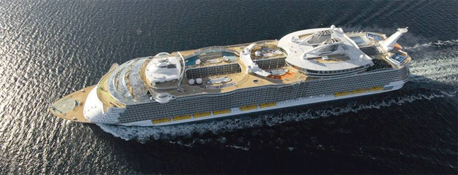 Allure of the Seas, the biggest cruise ship in the world