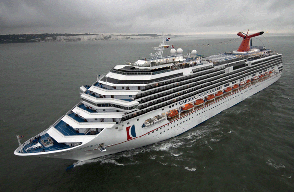 Carnival Splendor Arrives At Fort Lauderdale back in November 2008