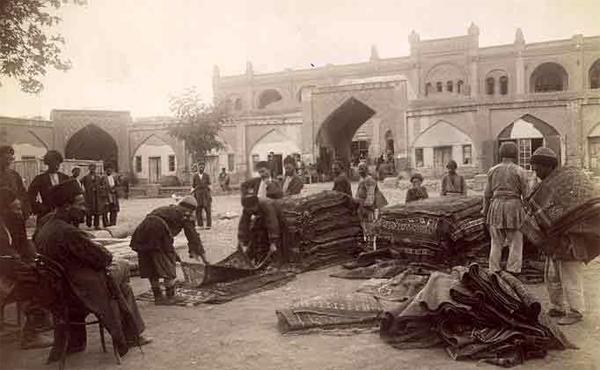 Carpet market Ganja XIX century