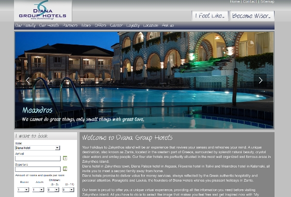 Diana Group Hotels' website