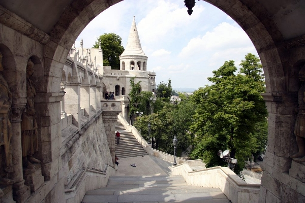 An interesting look from Fisherman's Bastion