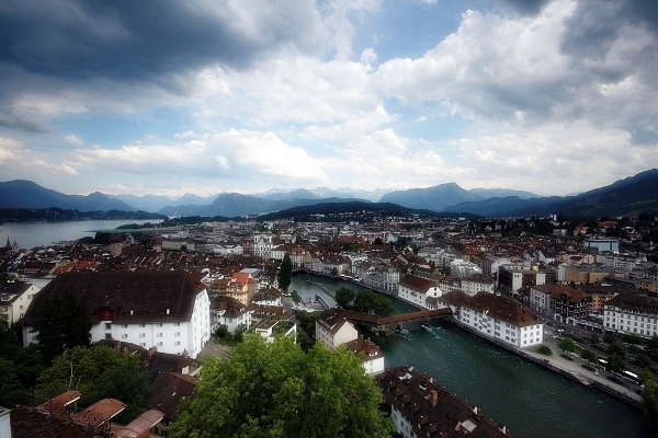 Lucerne panoramic of city center
