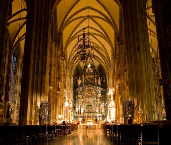 The high altar of St. Stephen's in Vienna