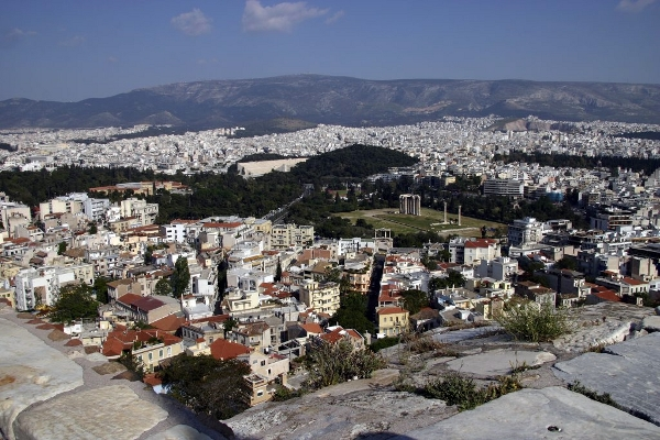 View toward The Temple of Olympian Zeus