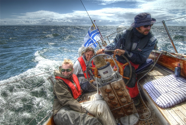 Ville Miettinen and his family navigate the Baltic
