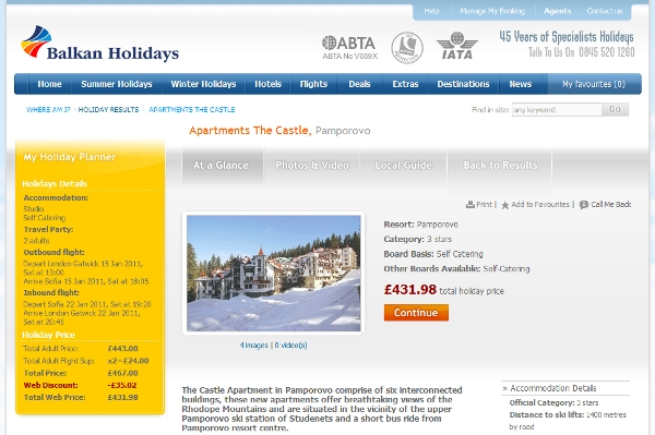 Balkans Holiday ski package