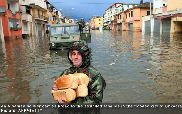 Albania, Montenegro and Bosnia-Herzegovina Flooded
