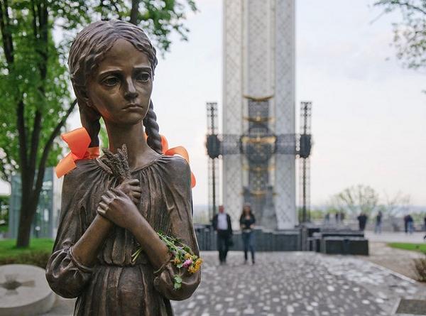 """Memorial """"the Holodomor"""" in Kyiv, Ukraine"""