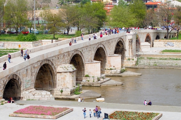 Stone Bridge in Skopje, Macedonia