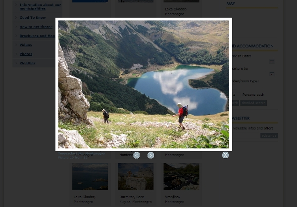 Montenegro Ministry of Tourism site