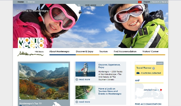 Welcome to Montenegro website