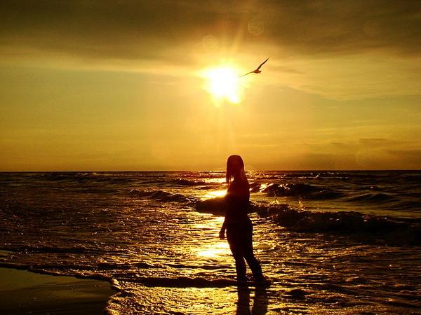Poland beach sunset