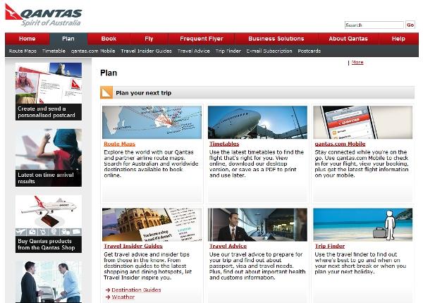 Quantas online travel portal