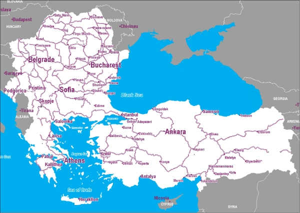 Southeastern Europe by rail