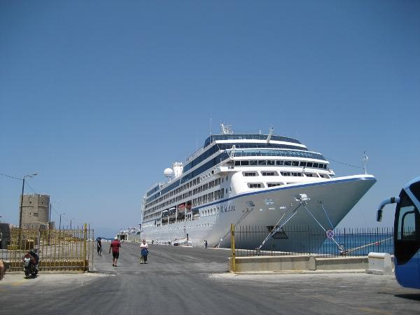 Oceania Nautica tied up in Rhodes