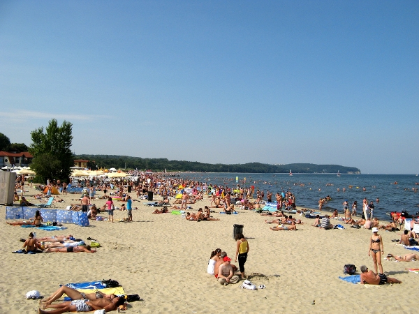 The beach at Sopot, Poland.
