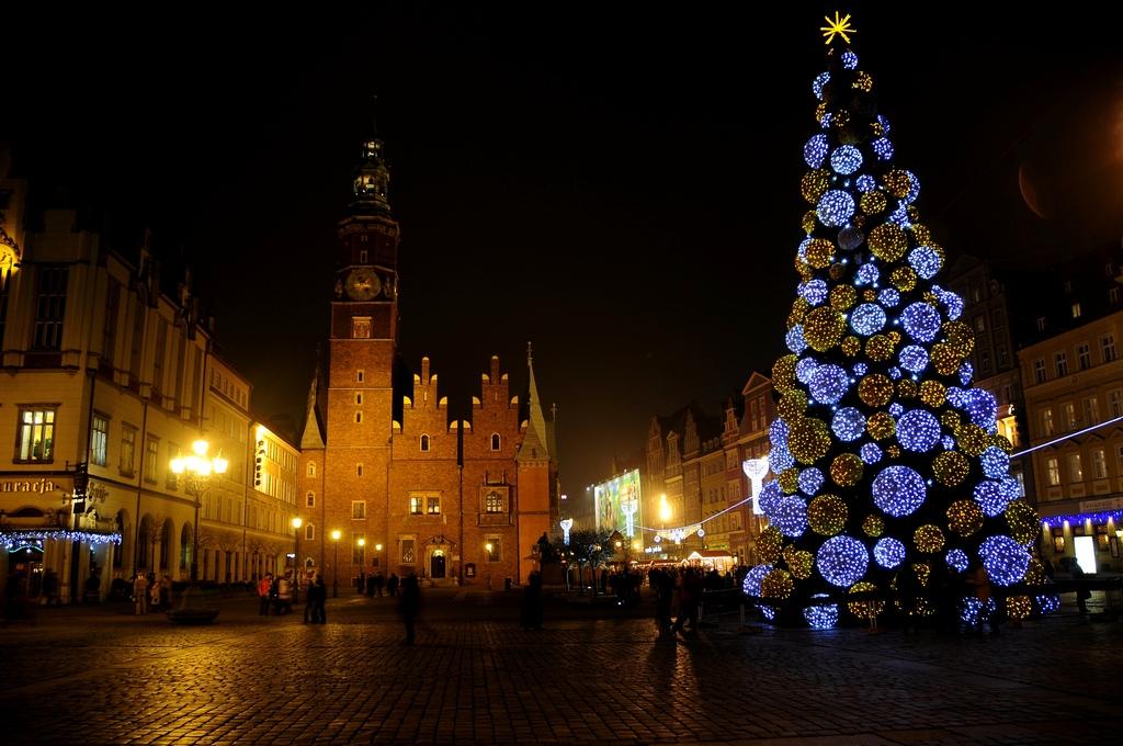 Christmas market in Wrocław