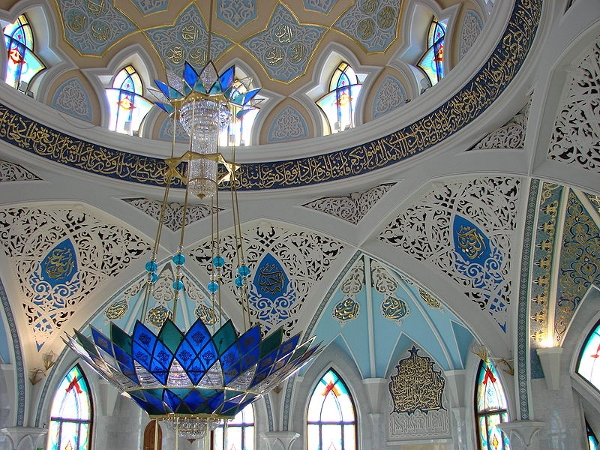 Inside the Sharif Mosque, Kazan, Russia