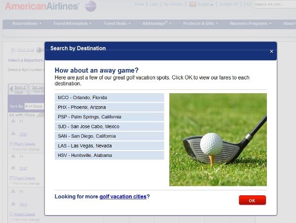 American's idea of a golf getaway