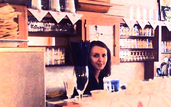 Anna Klimenko - our hostess at Taj Mahal, Trier.