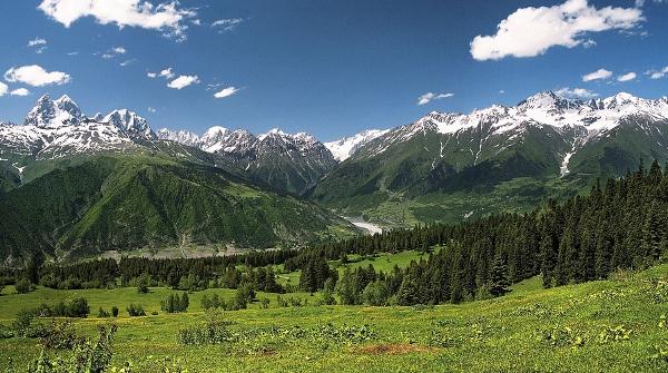 The Georgian Caucasus Mountains