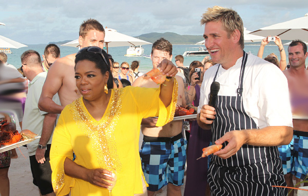 Curtis Stone and Oprah.