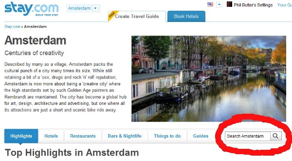 Amsterdam search tool