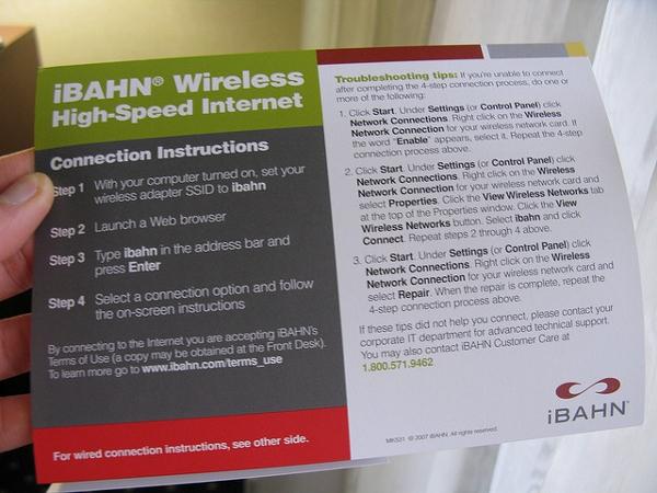 iBAHN wireless in hotels