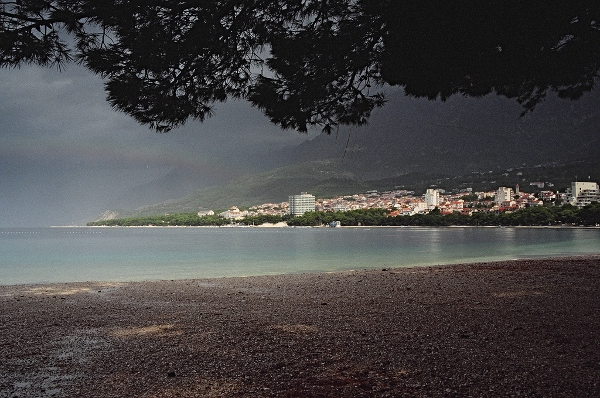 Summer storm in Makarska
