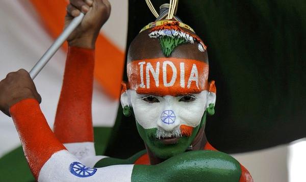 India cricket team fan at M. Chinnaswamy Stadium
