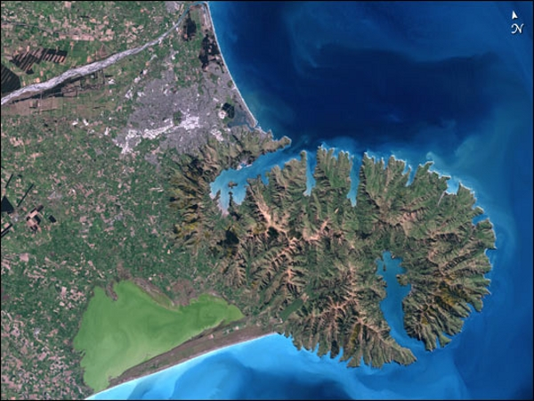 Christchurch New Zealand from Earth Observatory