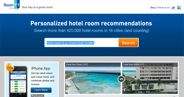 Room 77 makes it easy to find the hotel room that's right for you.