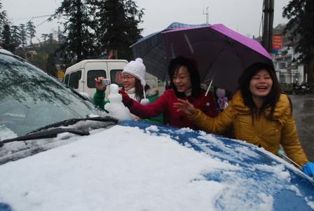 Snow in Vietnam.
