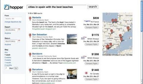 Hopper search results - courtesy Tnooz