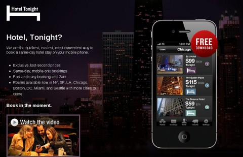 HotelTonight app website