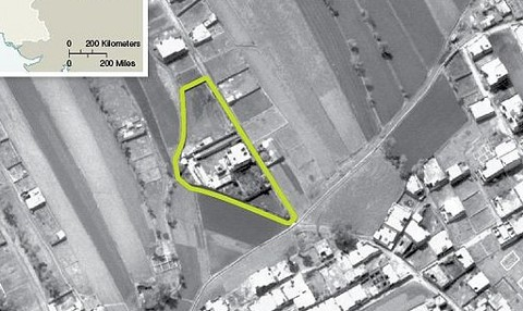 Aerial view of Bin Laden's lair
