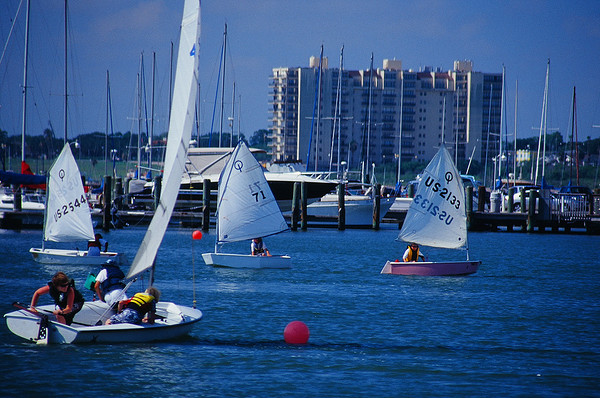 Sailing in Corpus Christi.