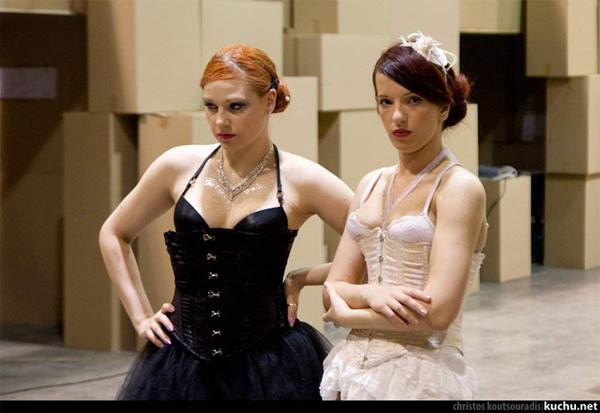 Scene from the Athens Fringe Festival 2010.