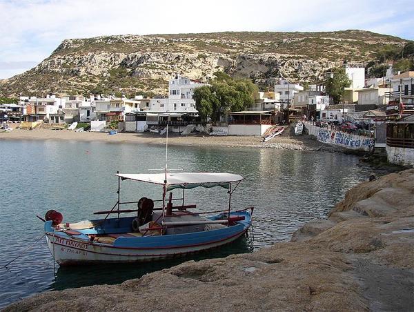 Matala sea shore.