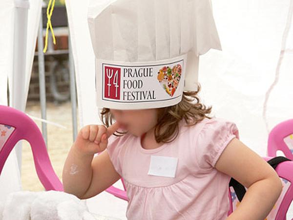 A child enjoying the Prague Food Festival.