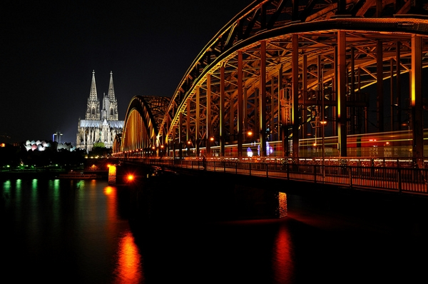Cologne Cathedral from the river
